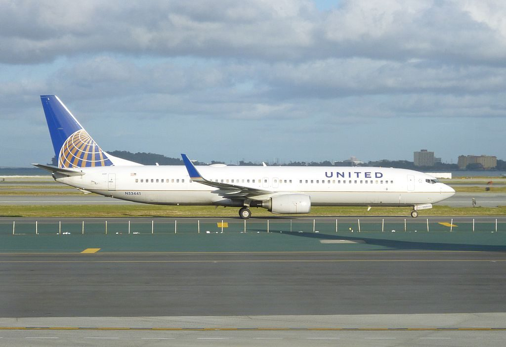United Airlines Fleet (ex-Continental) Boeing 737-900ER number N53441 at San Francisco International Airport, USA