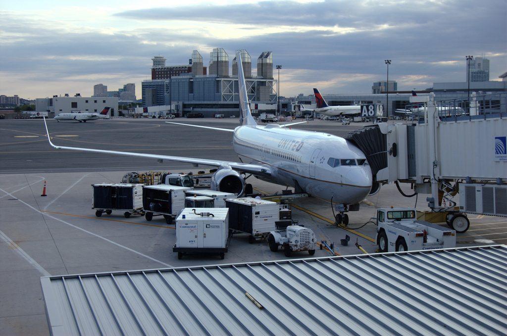 United Airlines Narrow Body Fleet N14231 Boeing 737-800(w) parked at Logan International Airport