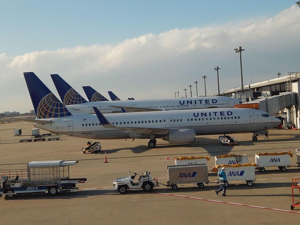 United Airlines Pacific Fleet Boeing B737-824 N14240 (cn- 28952:394) parked between flights to Hawaii, Guam and the US at Tokyo-Narita Airport(NRT:RJAA), Japan