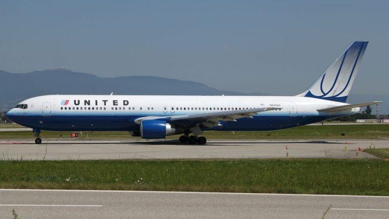 Boeing 767 322ER United Airlines Fleet N641UA taxiing at GVA Geneva Geneve Cointrin Switzerland