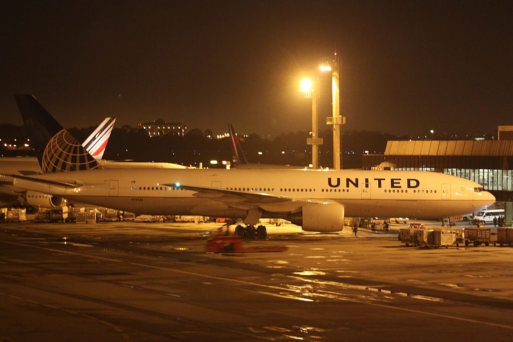Boeing 777 222 cnserial number 2694540 United Airlines Aircraft Fleet N781UA at Sao Paulo Guarulhos
