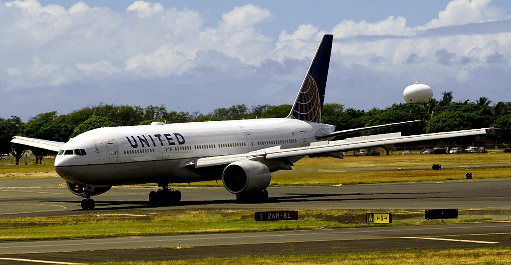Boeing 777 222 cnserial number 30220296 United Airlines Aircraft Fleet N214UA at Honolulu International Airport Hawaii