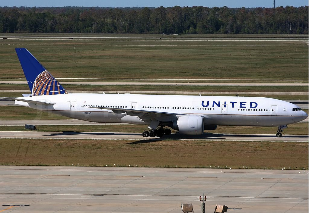 Boeing 777 224ER United Airlines Fleet ex Continental N77006 at Houston George Bush Intercontinental Airport KIAH USA Texas