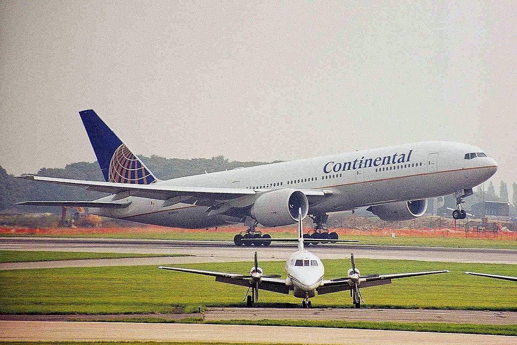 Boeing 777 224ER cnserial number 29480220 ex Continental Airlines United N76010 at Manchester Airport IATA MAN ICAO EGCC