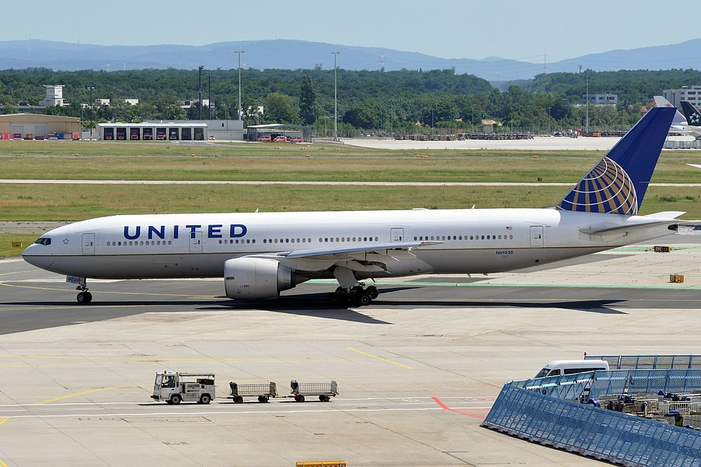 N69020 United Airlines Fleet ex Continental Boeing 777 224ER cnserial number 31687625 at Frankfurt Airport IATA FRA ICAO EDDF Germany