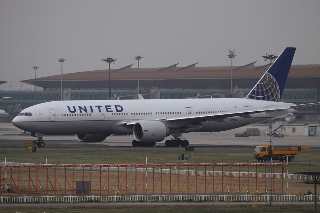 N78002 United Airlines Fleet ex Continental Boeing 777 224ER cnserial number 27578165 at Beijing Capital International Airport IATA PEK ICAO ZBAA