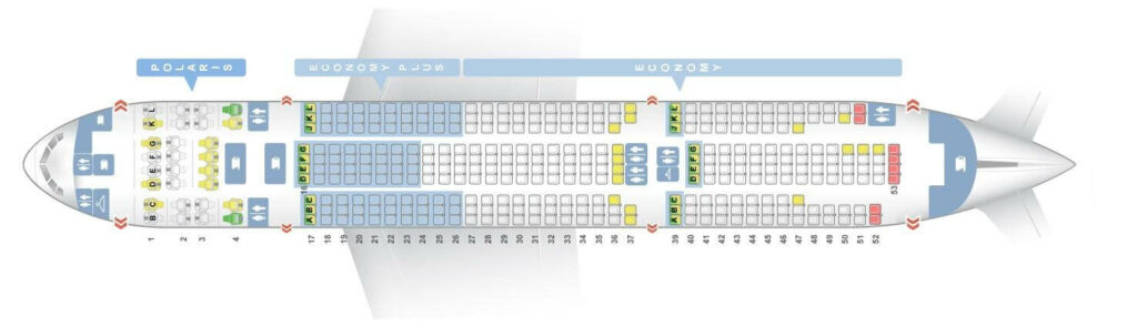 Seat Map and Seating Chart Boeing 777 200 ER V5 United Airlines
