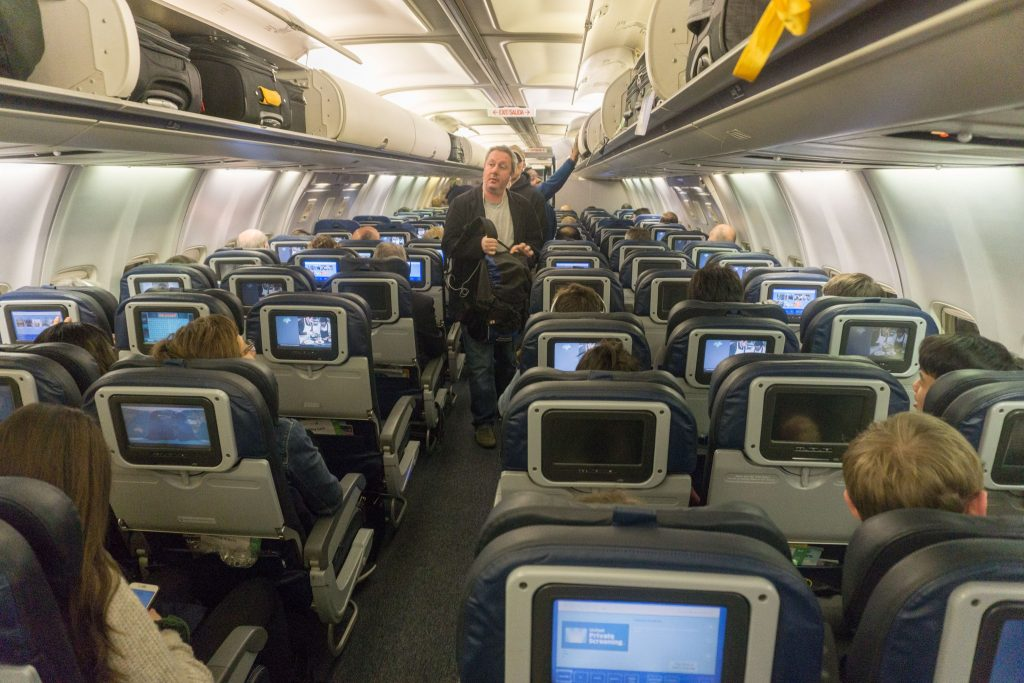 United Airlines Aircraft Fleet Boeing 757-200 Economy Class Cabin Interior and Seats Layout