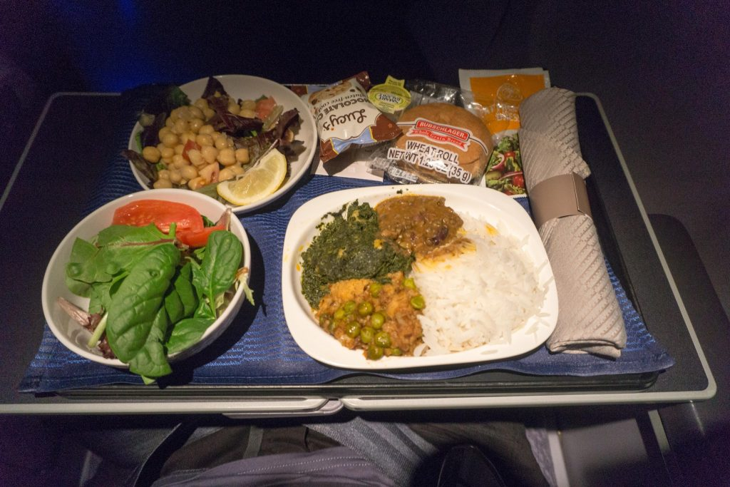 United Airlines Aircraft Fleet Boeing 757-200 Polaris Business:First Class Inflight Amenities All-Vegetarian Menu Meal:Food Services