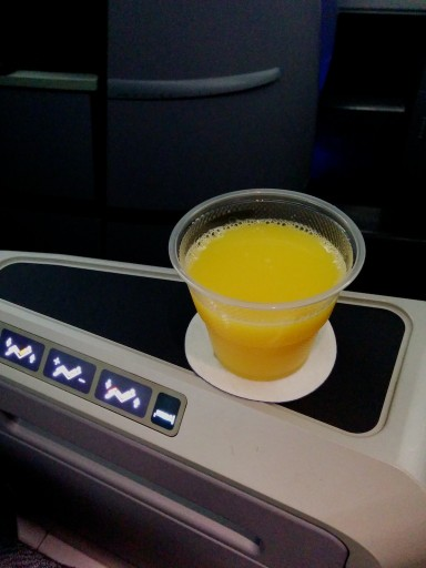 United Airlines Aircraft Fleet Boeing 767 300ER Polaris FirstBusiness Class Cabin Pre Departure Drinks Services