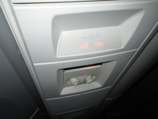 United Airlines Aircraft Fleet Boeing 767 300ER Premium Eco Economy Plus Over Head Control Panel Photos