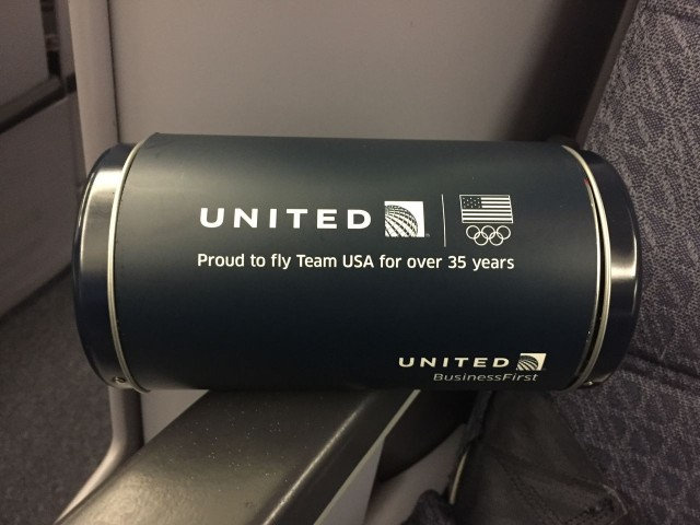 United Airlines Aircraft Fleet Boeing 777 200 Business Class Cabin Amenitiy Kit Olympic Themed