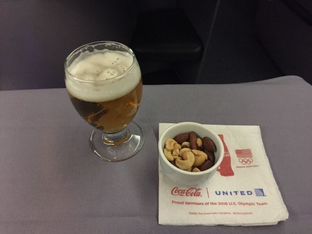 United Airlines Aircraft Fleet Boeing 777 200 BusinessFirst Class Cabin Inflight Amenities Drinks and Snacks Services