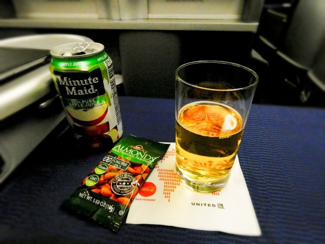 United Airlines Aircraft Fleet Boeing 777 200 Pre Merger Business Class Cabin Inflight Amenities Beverages snacks and drinks services
