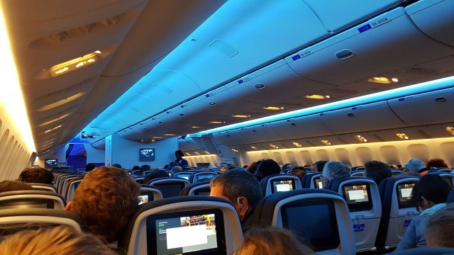 United Airlines Aircraft Fleet Boeing 777 300ER Economy Class Cabin Full View and 3 4 3 Seats Layout