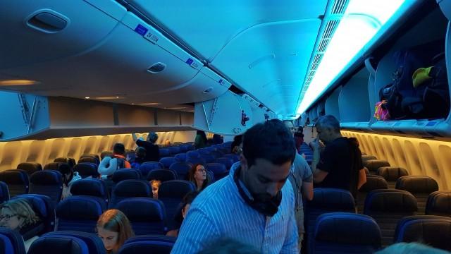 United Airlines Aircraft Fleet Boeing 777 300ER Economy Class Cabin Interior Design