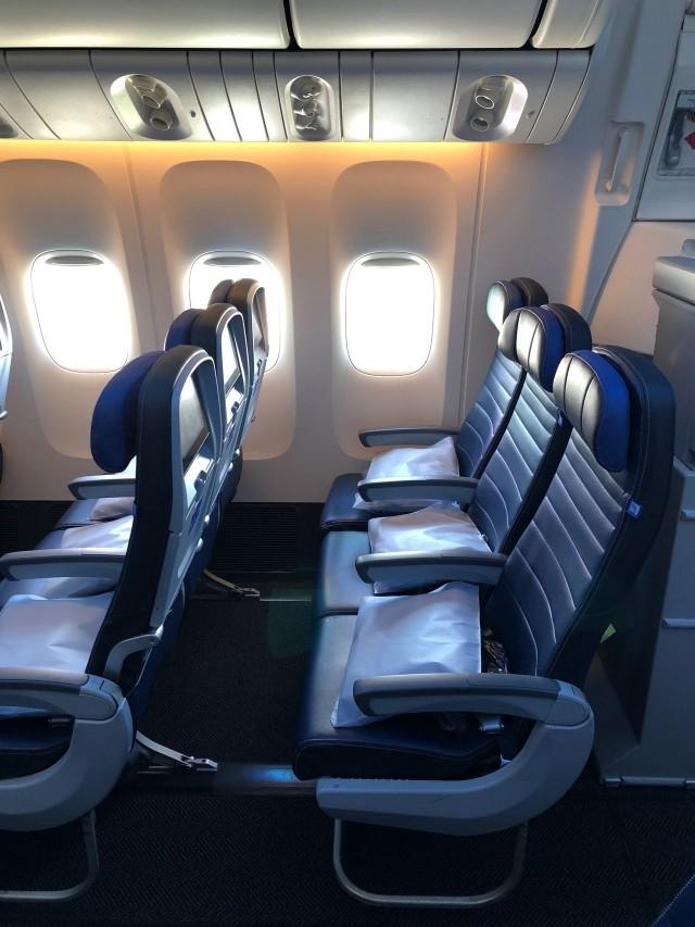 United Airlines Aircraft Fleet Boeing 777 300ER Economy Plus Premium Eco Cabin Configuration 3 4 3 Seats Layout
