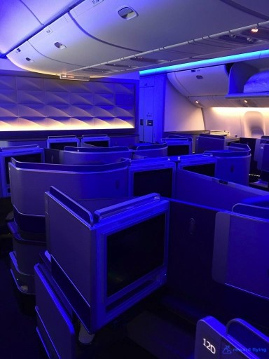 United Airlines Aircraft Fleet Boeing 777 300ER Polaris Business Class Cabin Configuration and Seats Layout Photos @rewardflying