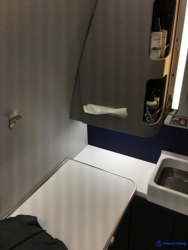 United Airlines Aircraft Fleet Boeing 777 300ER Polaris Business Class Cabin ToiletBathroomLavatory handicap equipped 2 @rewardflying