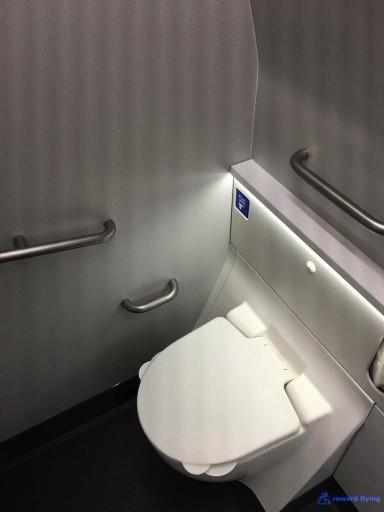 United Airlines Aircraft Fleet Boeing 777 300ER Polaris Business Class Cabin ToiletBathroomLavatory handicap equipped 3 @rewardflying