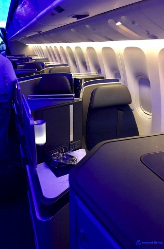 United Airlines Aircraft Fleet Boeing 777 300ER Polaris Business Class Cabin Window Seats Layout Photos @rewardflying