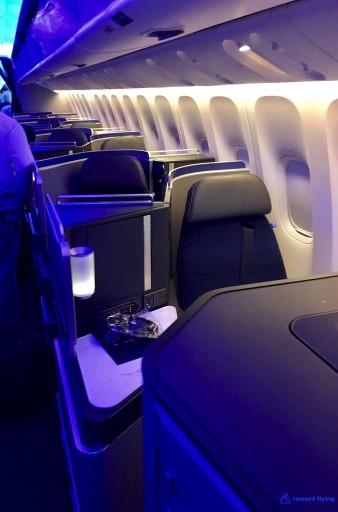 United Airlines Aircraft Fleet Boeing 777 300ER Polaris Business Class Cabin Window Seats Layout Photos @rewardflying