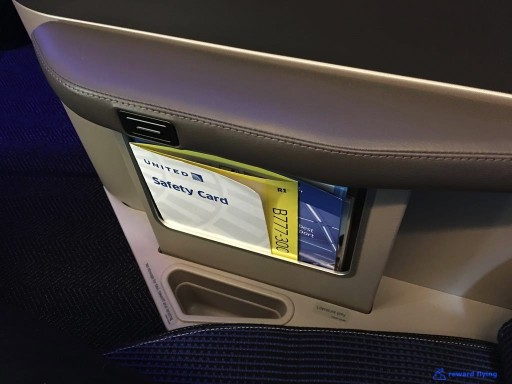 United Airlines Aircraft Fleet Boeing 777 300ER Polaris Business Class Cabin outer armrest can be lowered to extend the bed @rewardflying