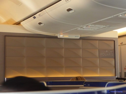 United Airlines Aircraft Fleet Boeing 777 300ER Polaris Business Class cabin Center bulkhead walls in both cabins @rewardflying