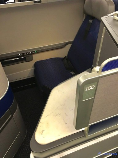 United Airlines Aircraft Fleet Boeing 777 300ER Polaris Business Class cabin Center seat forward facing @rewardflying
