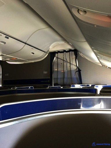 United Airlines Aircraft Fleet Boeing 777 300ER Polaris Business Class cabin Mesh curtains separate the cabins @rewardflying