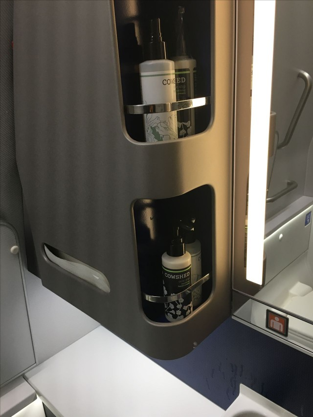 United Airlines Aircraft Fleet Boeing 777 300ER Polaris First Class Cabin Toilet Bathroom Lavatory Photos 3