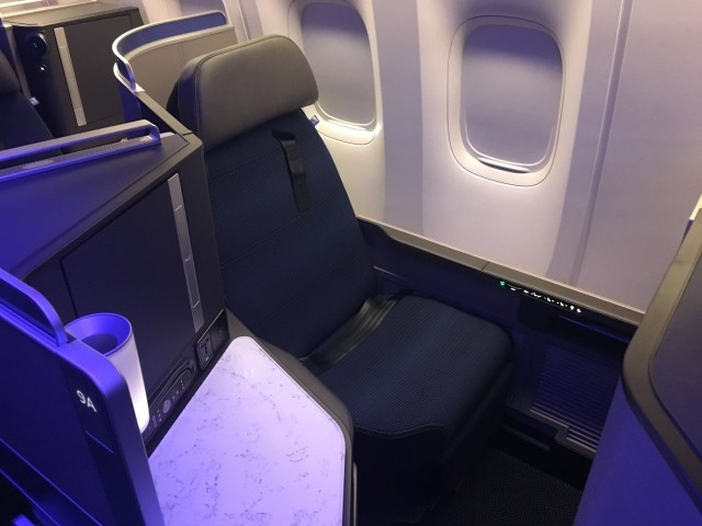 United Airlines Aircraft Fleet Boeing 777 300ER Polaris First Class Cabin Window Seats Photos