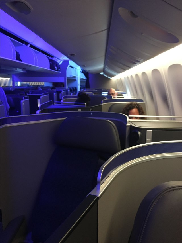 United Airlines Aircraft Fleet Boeing 777 300ER Polaris First Class Cabin seats row configuration photos