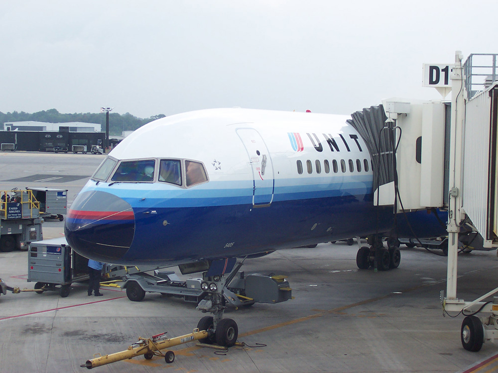 United Airlines Aircraft Fleet N505UA Boeing 757-224 cn:serial number- 24626:254 The 1993 Battleship Gray livery at Baltimore-Washington International
