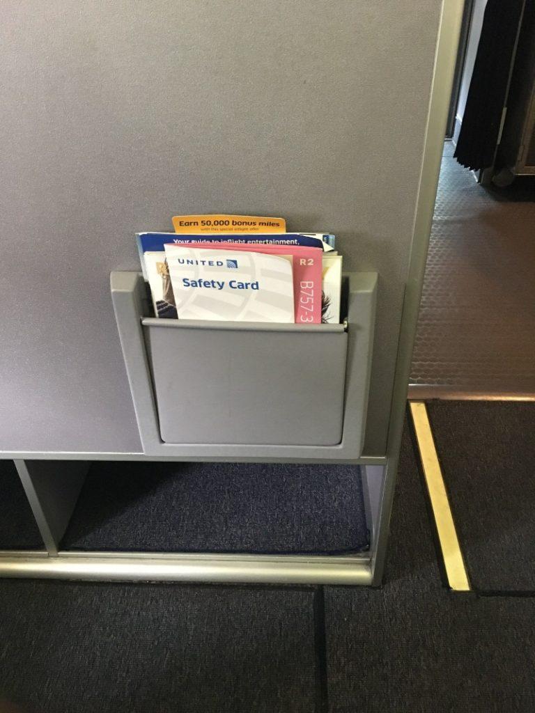 United Airlines Aircraft Fleet Narrow Body Boeing 757 300 Business First Class Cabin Bulkhead Seats Panel Photos