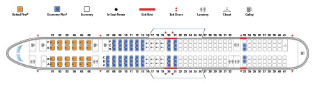United Airlines Aircraft Fleet Narrow Body Boeing 757 300 Seat map 24189 configuration