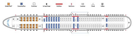 United Airlines Aircraft Fleet Narrow Body Boeing 757 300 Seat map 24210 configuration