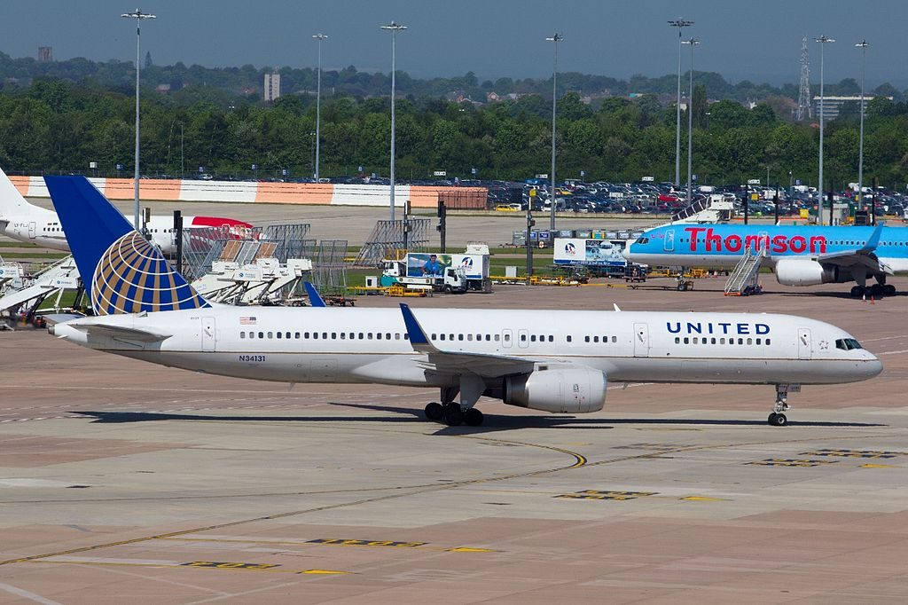 United Airlines Aircraft Fleet (ex-Continental) N34131 Boeing 757-224 cn:serial number- 28971:806 at Manchester Airport