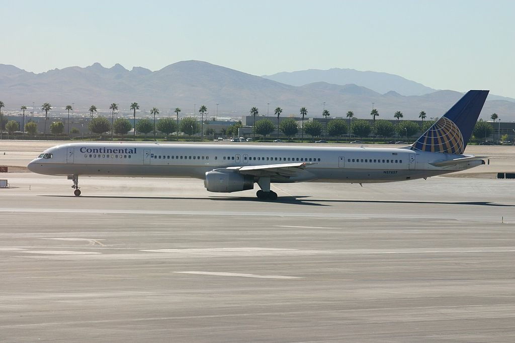 United Airlines Aircraft Fleet ex Continental N57857 Boeing 757 324 cnserial number 328161040 Las Vegas McCarran International Airport