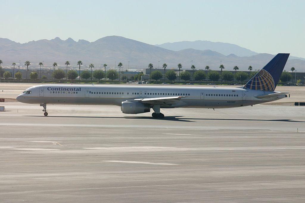 United Airlines Aircraft Fleet ex Continental N57857 Boeing 757 324 cnserial number 328161040 Las Vegas McCarran International Airport