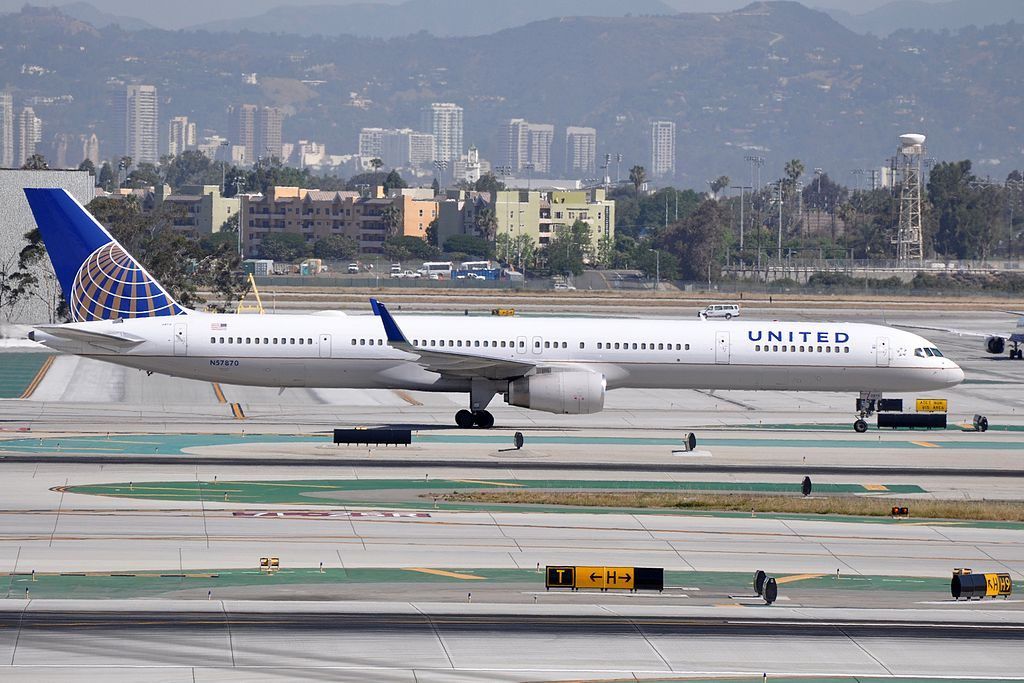 United Airlines Aircraft Fleet ex Continental N57870 Boeing 757 33Nwl cnserial number 335251031 taxiing at LAX