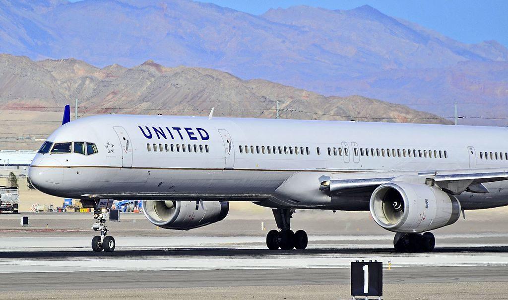 United Airlines Aircraft Fleet ex Continental N73860 Boeing 757 33N cnserial number 32584972 taxiing at Las Vegas McCarran International LAS KLAS USA Nevada