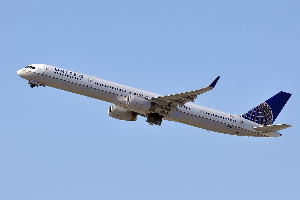 United Airlines Aircraft Fleet ex Continental N75854 Boeing 757 324wl cnserial number 32813999 at LAX
