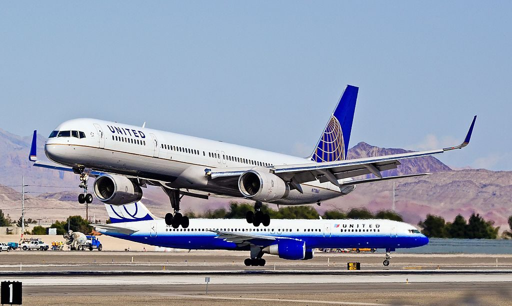 United Airlines Aircraft Fleet ex Continental N77865 Boeing 757 33N cnserial number 325891003 at Las Vegas McCarran International LAS KLAS USA Nevada