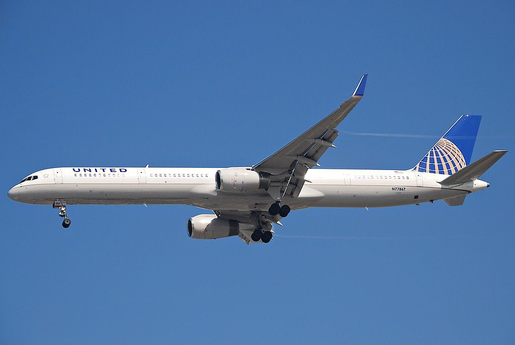 United Airlines Aircraft Fleet ex Continental N77867 Boeing 757 33N cnserial number 325921008 at LAX