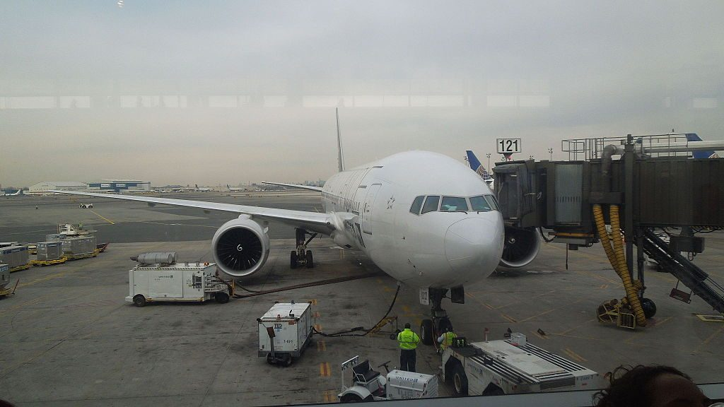 United Airlines Boeing 777 200ER N76021 in Star Alliance livery at Newark Liberty International Airport