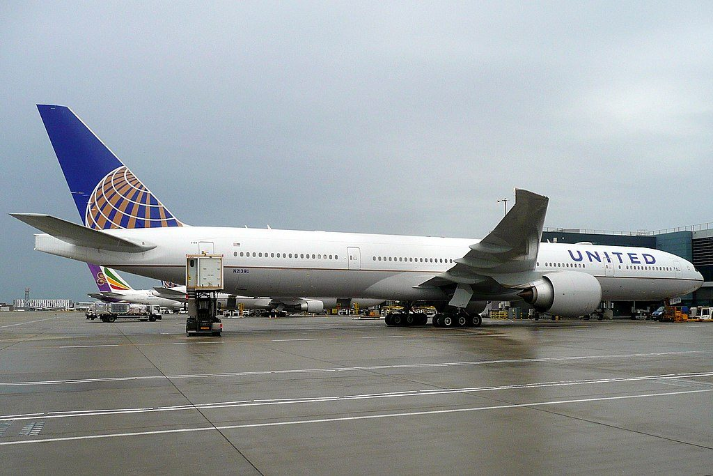 United Airlines Fleet N2138U Boeing 777 322ER cnserial number 626491483 wide body aircraft at LHR London