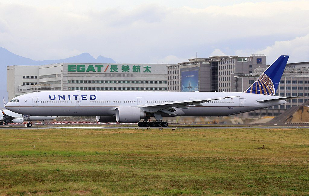 United Airlines Fleet N2138U Boeing 777 322ER cnserial number 626491483 wide body aircraft at Taiwan Taoyuan International Airport