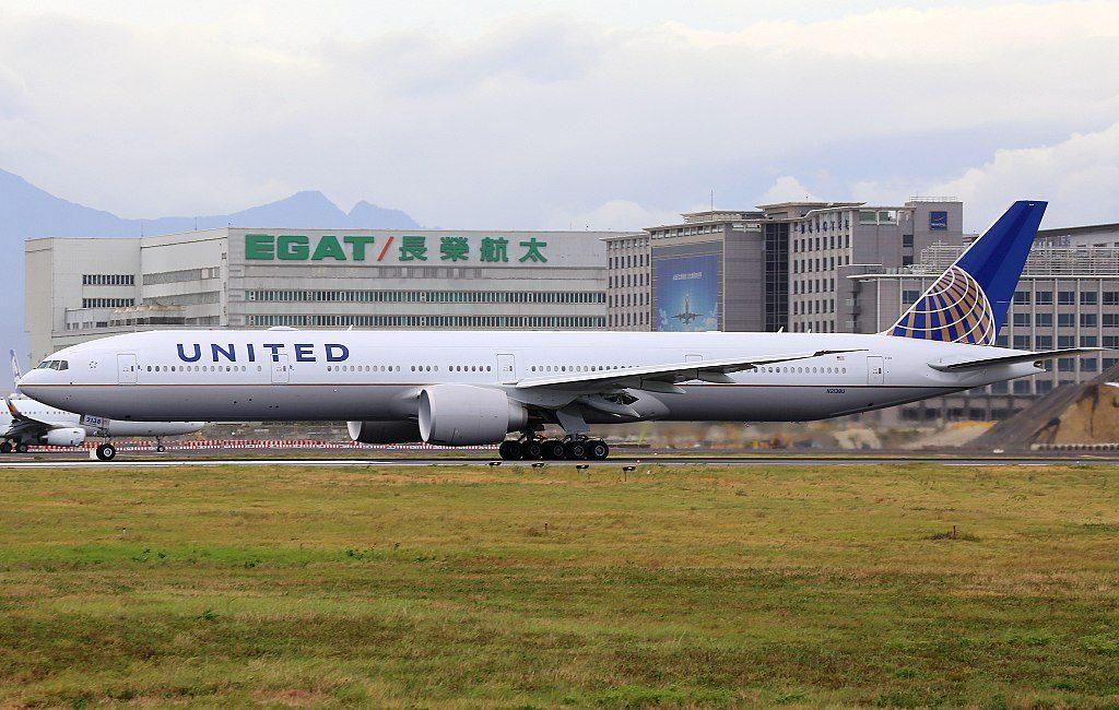 United Airlines Fleet N2138U Boeing 777 322ER cnserial number 626491483 wide body aircraft at Taiwan Taoyuan International Airport