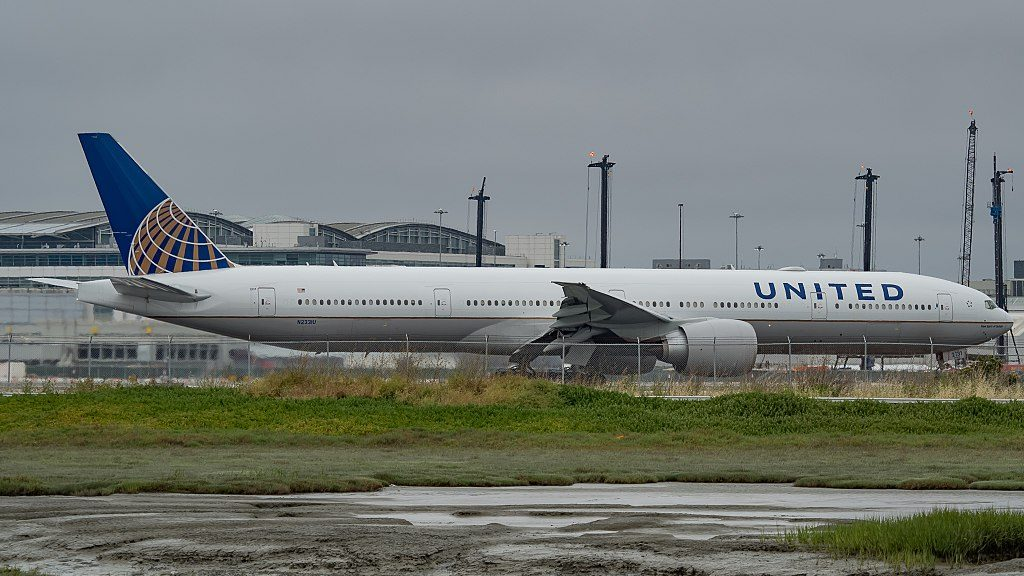 United Airlines Fleet N2331U Boeing 777 322ER cnserial number 626421453 long haul wide body aircraft at San Francisco International Airport